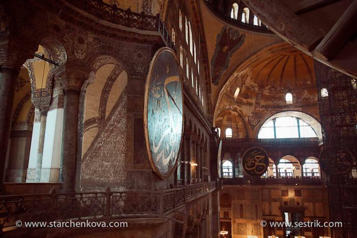 шестикрылые серафимы в святой софии в стамбуле