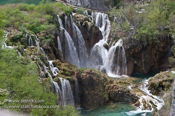 главный каскад водопадов плитвицких озер