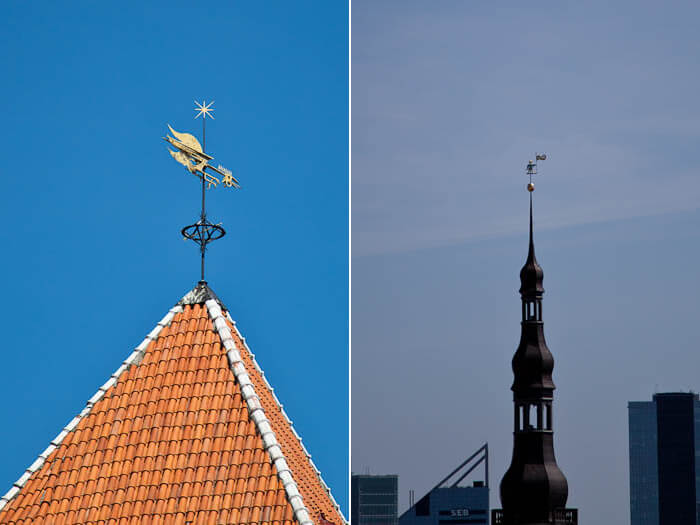 Старый Томас и флюгер-петух в Таллине