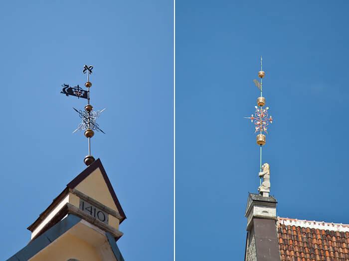 Достопримечательности Таллина шпили на крышах