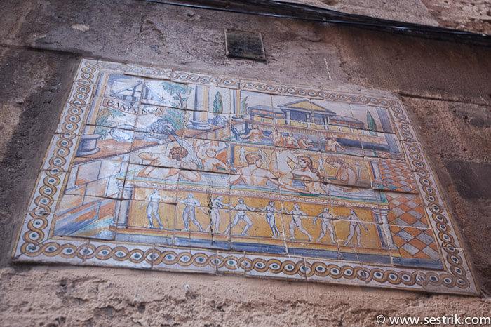 Готический квартал древняя реклама