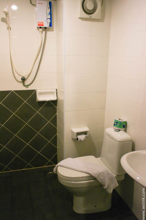 Душ и туалет в отеле