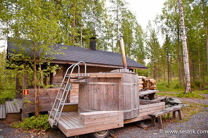 Финская баня по черному