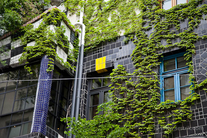 Галерея хундертвассера стены увитые зеленью
