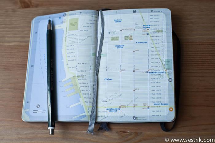 Планирование поездок с помощью Молескин