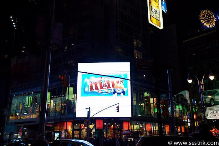 Магазины Нью-Йорка M&M's