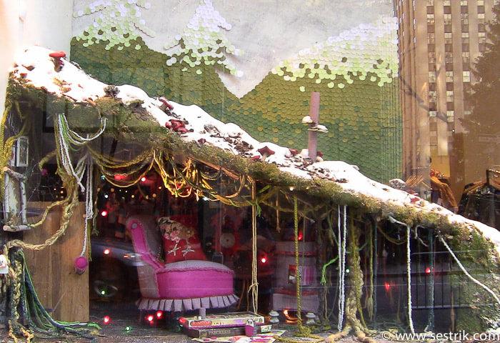 Фотографии Нью-Йорка витрины магазинов