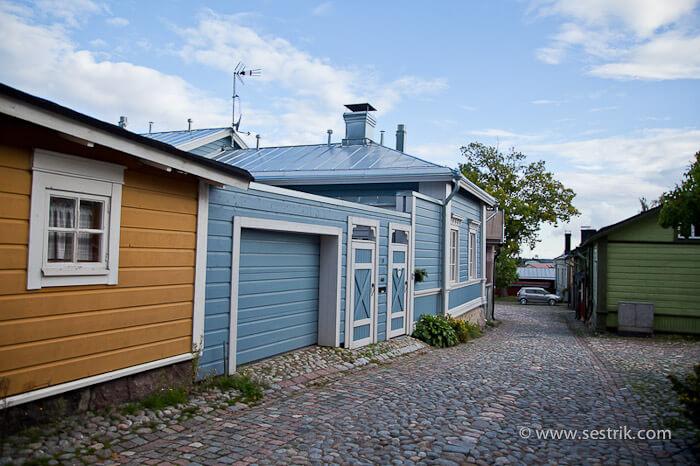 Деревянные дома в Порвоо