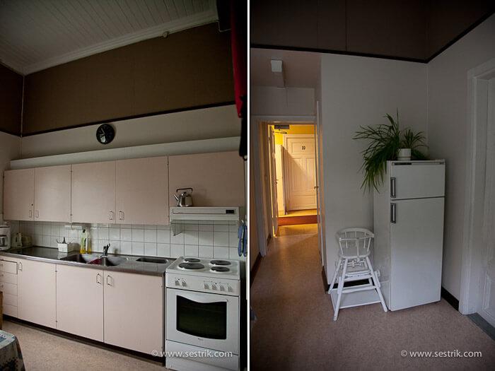 Кухня хостела в Порвоо