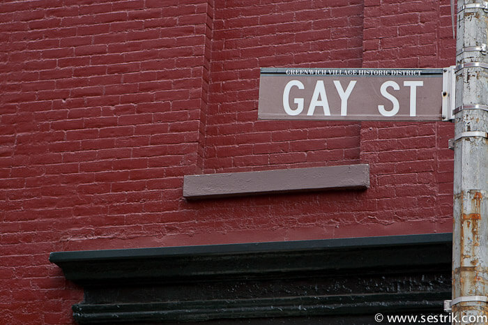 Gay Street in West Village New York